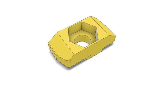 t-nut slot 8 adapter to hexagon nut m4 3d print model 3d