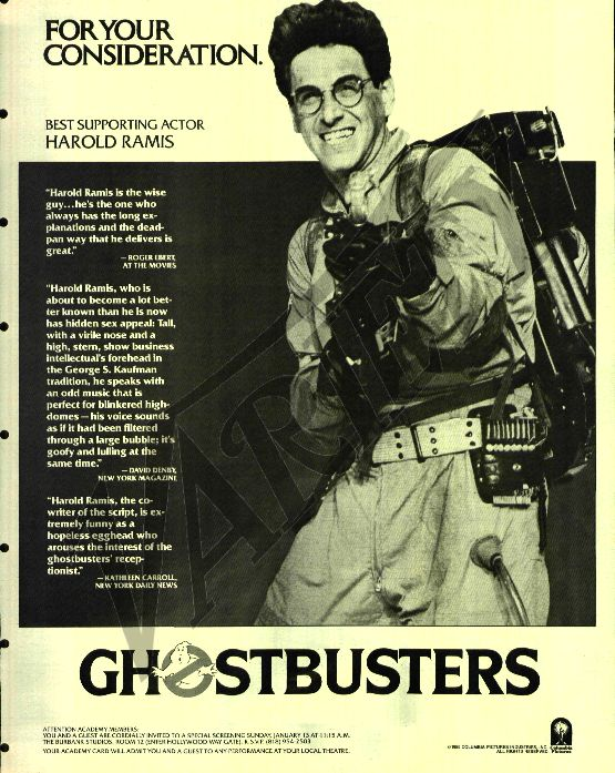 Ghostbusters - Egon, for your consideration.