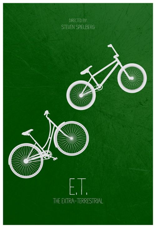 E.T. the Extra-Terrestrial (1982) ~ Minimal Movie Poster by Calm the Ham