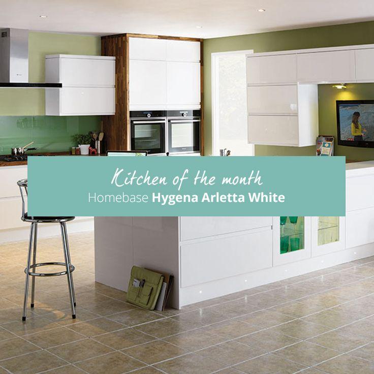 #KitchenOfTheMonth November 2016: Homebase Hygena Arletta White Kitchen.