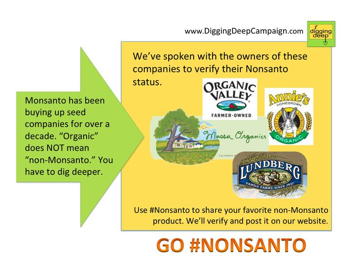 List Of Foods That Contain Monsanto Products