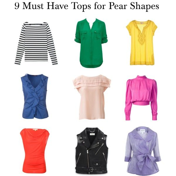 """""""Tops For Pear Shapes"""" by elsasima on Polyvore"""
