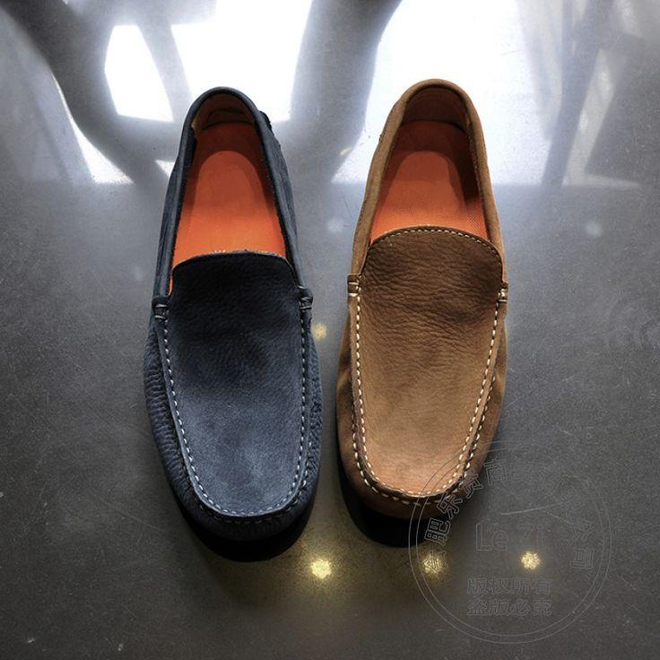 Plain Peas Schuhe Weiche Sohle Aus Echtem Leder Gemütliche Solide Genäht  Weichem Leder Männer müßiggänger Bootsschuhe
