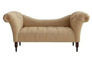 One Kings Lane - Discovery Zone - Cameron Tufted Chaise, Sandstone