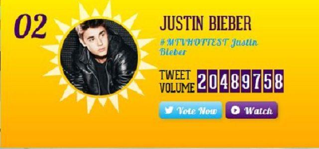 #MTVHOTTEST Justin Bieber Competes In Battle Hottest Summer SuperStar 2014