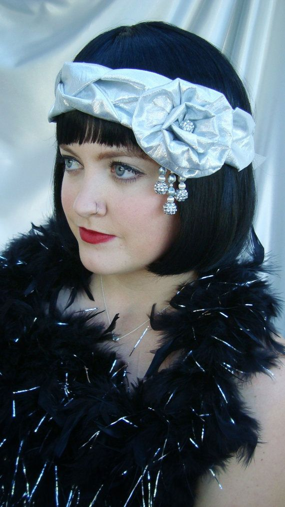 Silver Lame' Braided 1920s Headpiece Great by LadyKatherineHats, $42.00