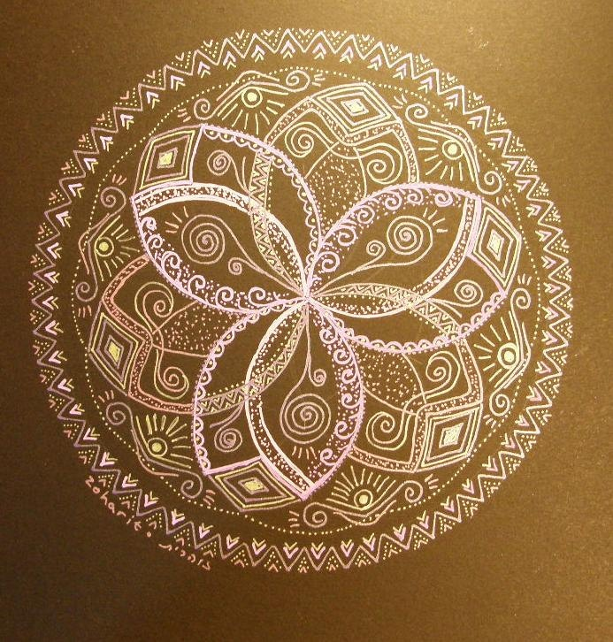 Glowing Mandala original
