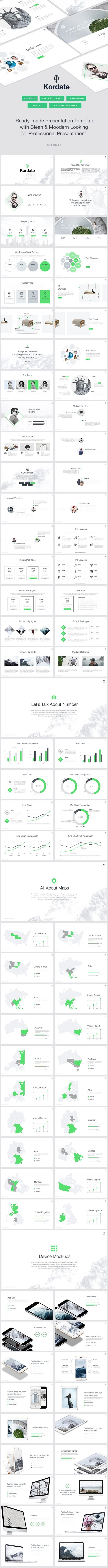 Kordate  Clean & Professional Keynote Template — Keynote KEY #annual report • Download ➝ https://graphicriver.net/item/kordate-clean-amp-professional-keynote-template/19233663?ref=pxcr