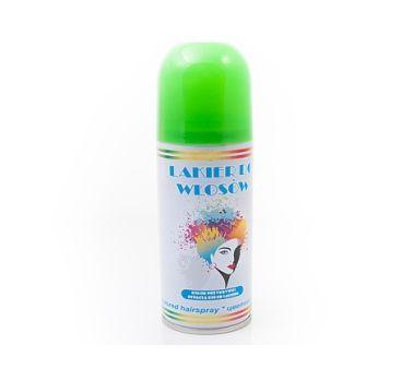 Lakier do włosów, zielony. Zmień fryzurę na jeden dzień i zaskocz swoich gości.