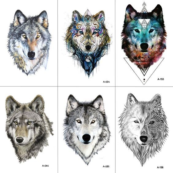 Günstige WYUEN Wolf Tattoo aufkleber Wasserdichte Frauen Gefälschte Hand Tier …