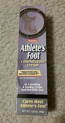 Athlete's Foot Antifungal Cooling Cream Enriched w Aloe Clotrimazole 1.25 oz