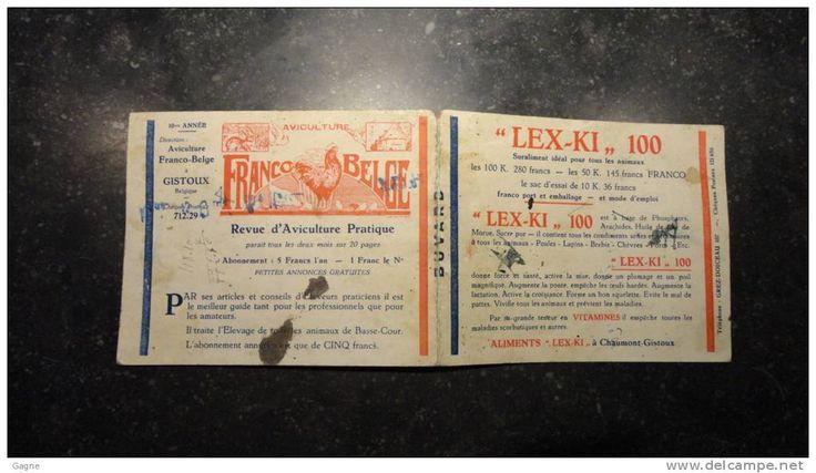 12b/3 - Aviculture coq lapin Gistoux revue pratique  aliments lex ki chaumont gistoux