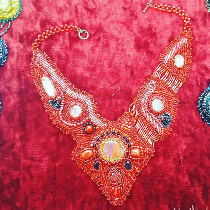 Ожерелье из бисера ручная работа #ручнаяработа #ручнаяработанефтекамск #ожерелье #бисер