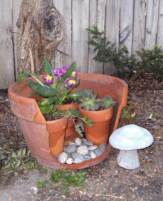 The 175 best images about miniature gardens ideas for broken flower pots on pinterest plant - Fairy garden containers for sale ...