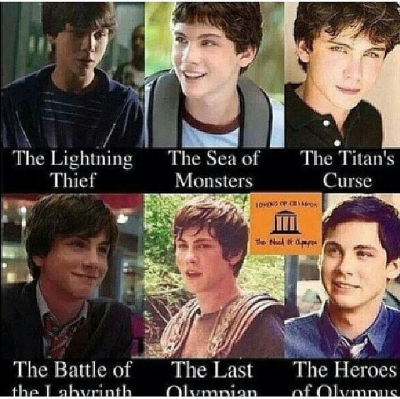 THANK YOU WHO EVER MADE THIS. Correct ages for the percy jackson movies: