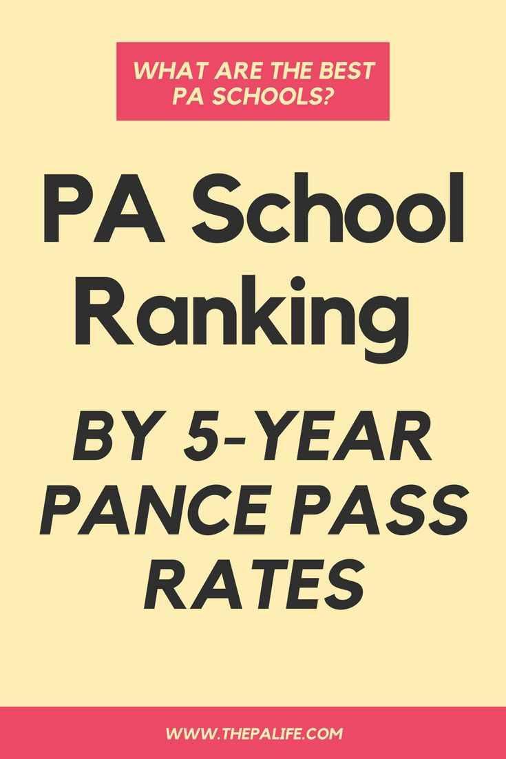 What are the Best PA Schools? PA Program Ranking by PANCE Pass Rates via @thepalife