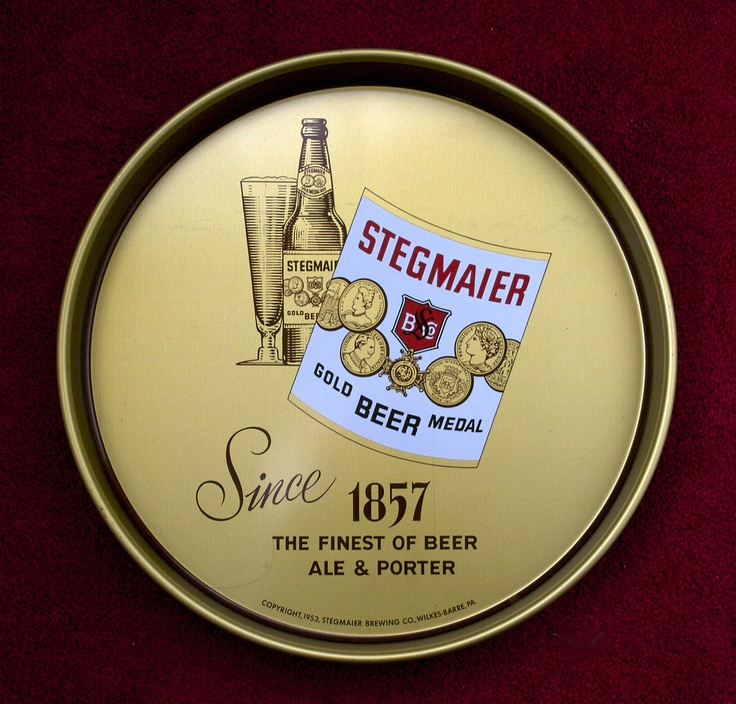 Vintage - Stegmaier Brewing Co of Wilkes-Barre - Pennsylvania - USA - The beer is still brewed at the Lion Brewery in Wilkes-Barre - Tray - 1953
