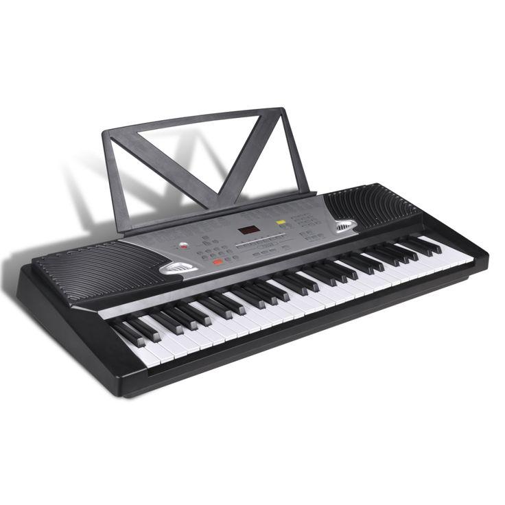 54-toetsen Elektrisch keyboard met muziekstandaard  Dit hoogwaardige 54-toetsen standaard keyboard heeft een uitstekende geluidskwaliteit en een breed scala aan functies en mogelijkheden. De piano is makkelijk te bespelen en een geweldige keuze voor beginners en gevorderde spelers. Dit keyboard is zeer uitgebreid. Het heeft 100 soorten geluiden en 100 automatische begeleidingsstijlen die zeer goed geprogrammeerd zijn. Het keyboard heeft 12 demo-liedjes. Bovendien beschikt het keyboard ook…