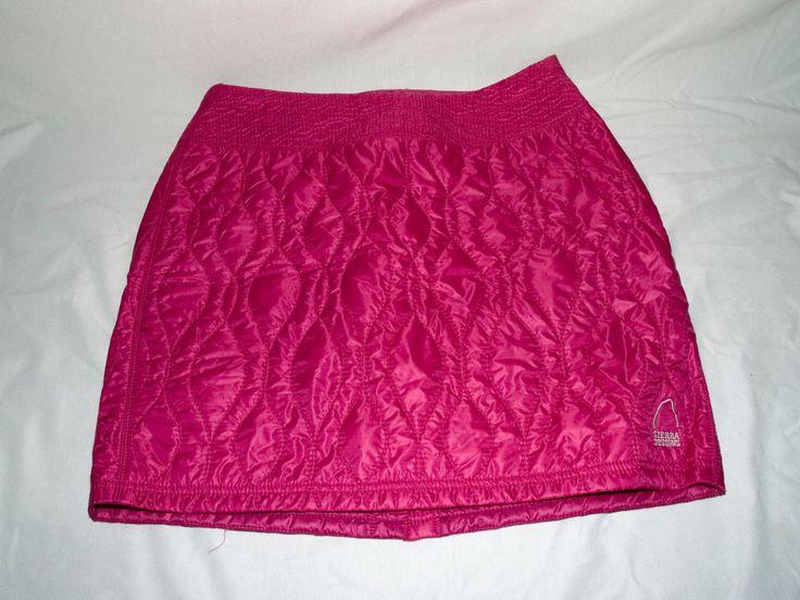 designs pink cascade insulated skirt womens