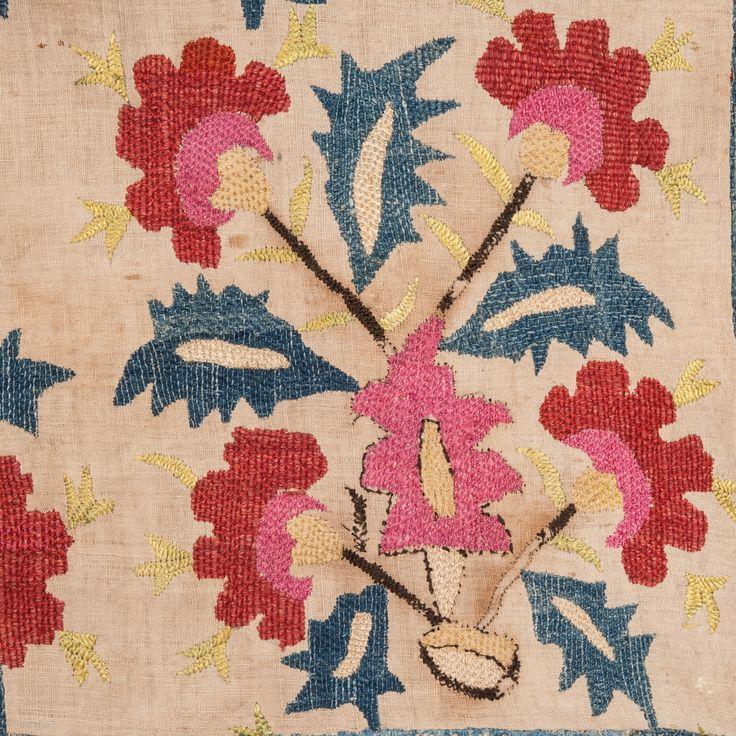 Ottoman Embroidery Fragment 78 x 95 cm / 2'5''x 3'1''