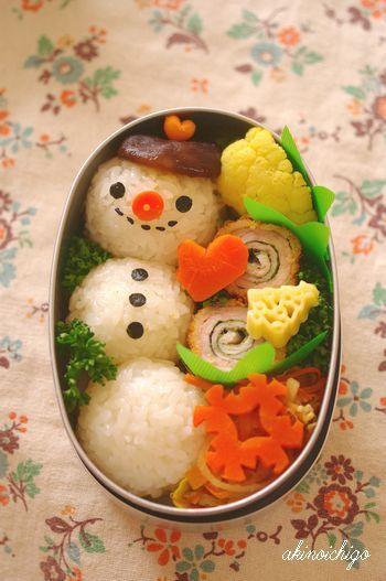 ゆきだるまのお弁当 わくわくキャラクター弁当