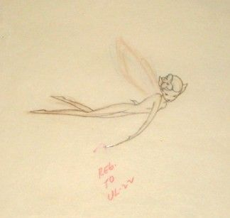 Original Disney Production Drawing of a Sugar Plum Fairy from Fantasia