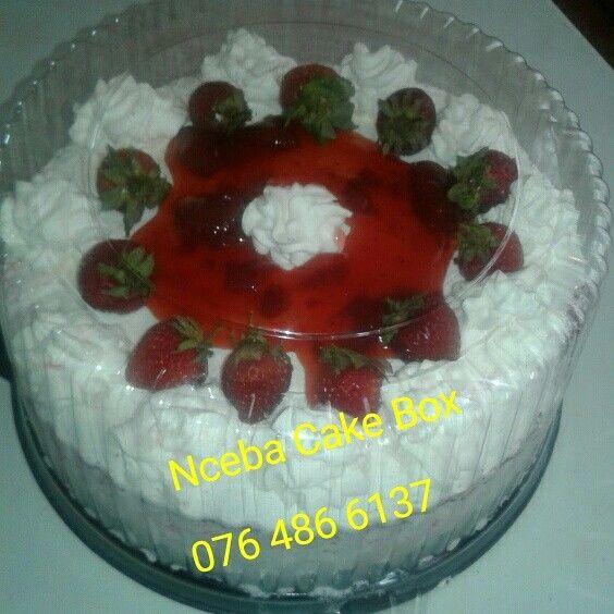 Red Velvet Cake with strawberry filling.