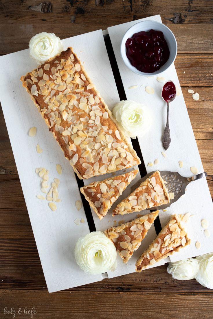 Almond Slices – Mandelschnitten mit Himbeerkonfitüre