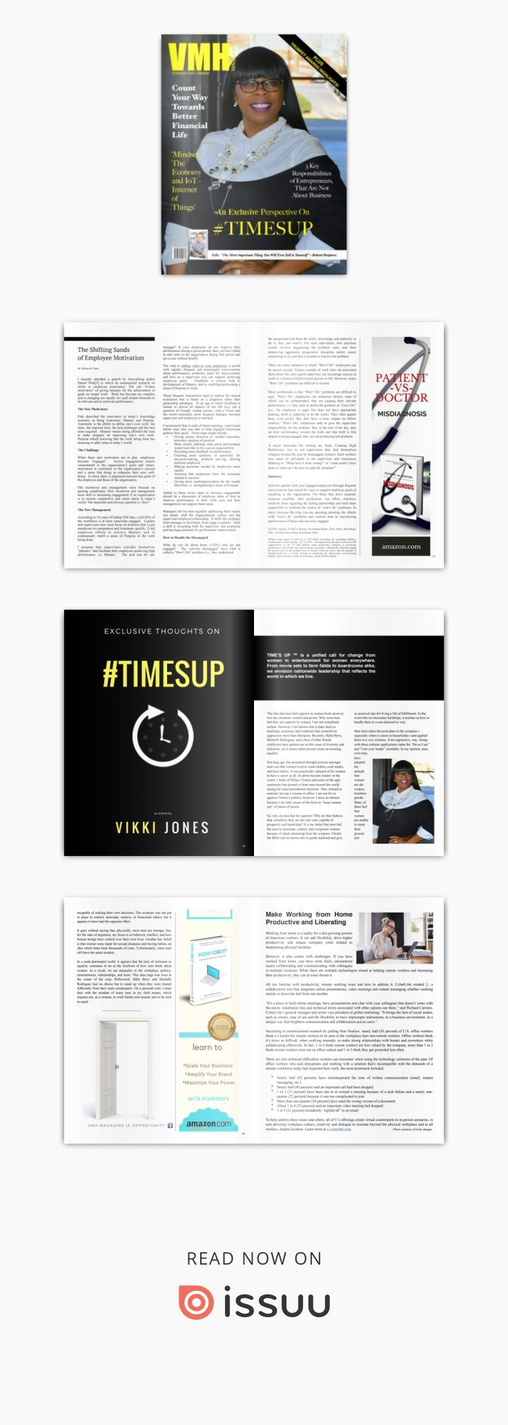 VMH Magazine - February 2018  Featuring: An Exclusive Perspective on #TIMESUP | Resolve to Improve Your Financial Health | 26th Annual Trumpet Awards Highlights | Luxury Realtor, Melissa Miller Success Tips | Digitally Transform Your Business| Author/Shark Tank's Robert Herjavec  'In business you either grow fast or die slowly.' Plus, everyday tips for a rewarding life of success, fitness and good health!