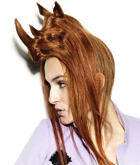 Hair Hats, Incredible Animal-Shaped Hair Sculptures by Nagi Noda