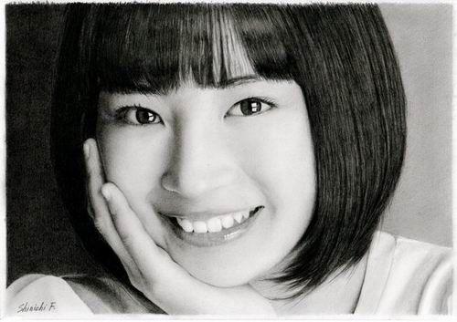 Sugoi! Ini Bukan Foto Selebriti Jepang, Tapi Lukisan Menggunakan Pensil!