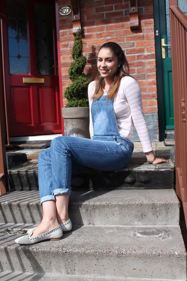 Dungarees and loafers
