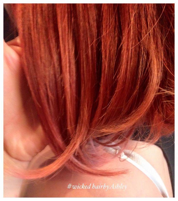 Orange/red ombré