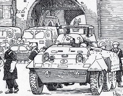 """CARTOLINA DA PORTA ZAMBONI Immagine rubata alla mostra fotografica """"Bologna e le stagioni del marzo"""" dal 16 al 31 marzo 2017 alla Sala Ercole di Palazzo d'Accursio. Da una foto di Ernesto Fabbiani, Ansa, 13 marzo 1977 - #1977"""