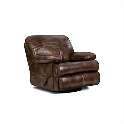 Simmons Upholstery Swivel Rocker Recliner Chair in Nubuck Bonded Leather - 50981-R-H - Lowest price online on all Simmons Upholstery Swivel Rocker Recliner Chair in Nubuck Bonded Leather - 50981-R-H