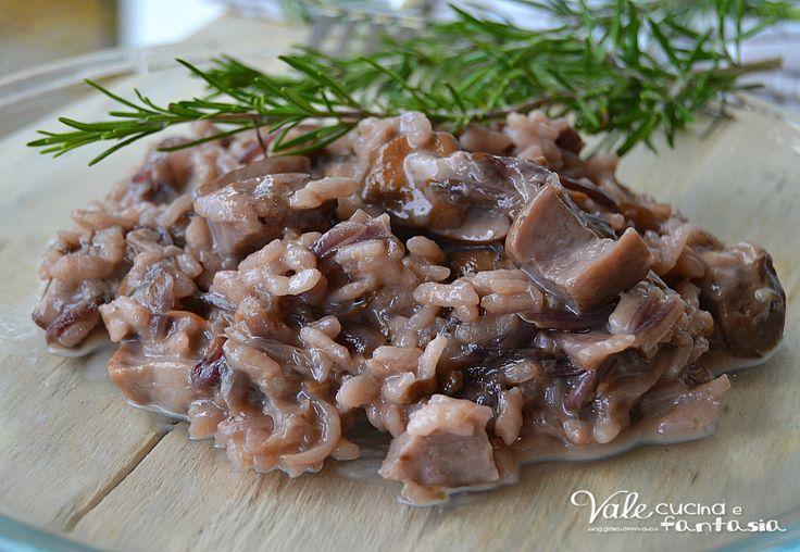 Risotto con radicchio funghi porcini e taleggio