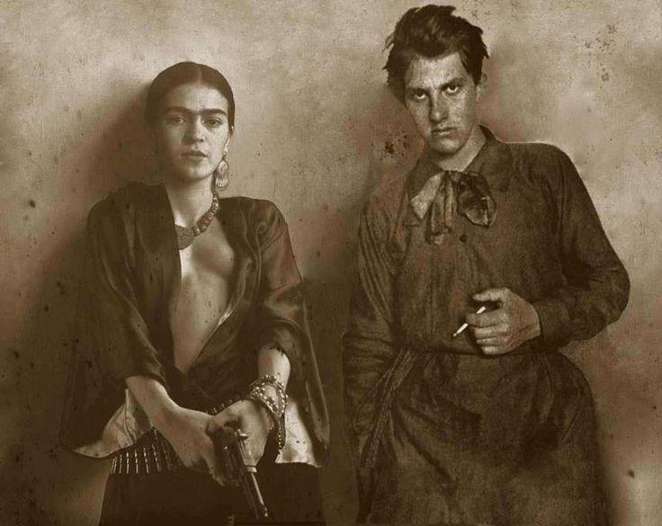 Frida Kahlo and the Russian poet and futurist Vladimir Mayakovsky