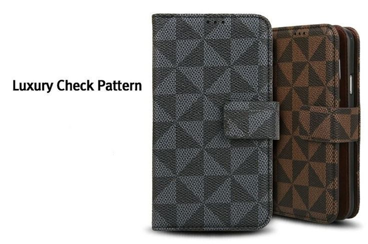 LOUIS DIARY PREMIUM CARD POCKET CHECK PATTERN WALLET PHONE CASE FOR GALAXY A5