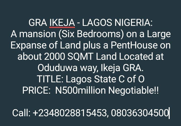 RT @WISECOMRealty: #realestate #GRA #Nigeria #news #home #forsale #maisionette #duplex #luxuryapartments #invest #investment #africa #Letting #Abuja #home #design #architecture #buyandsell #bedroom #detached #duplex #luxuryapartments #land #africa #USA https://t.co/BVlYOOwBMl