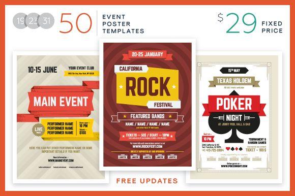 Event Poster Bundle + Freebie by EDT.im on @creativemarket