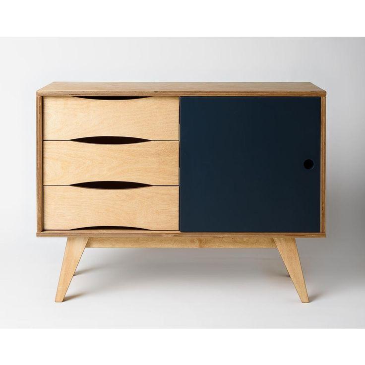 Kleines Sideboard SoSixties In Holz Und Grau Für Einen Skandinavischen  Retro Look In Deinem Esszimmer
