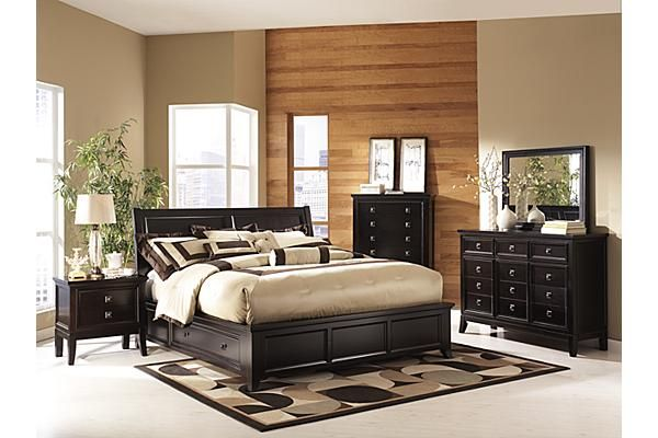 """The Martini Suite Storage Bedroom Set from Ashley Furniture HomeStore (AFHS.com). The """"Martini Suite"""" bedroom collection captures the beautiful look of rich contemporary styling with a unique flair that is all its own."""