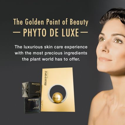 Mila d'Opiz Australia - golden point of beauty. Fight the signs of skin aging with our Phyto de Luxe Range! Luxurious skin care with the most precious ingredients the plant world has to offer.