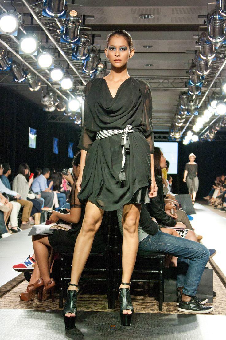 Drapery chiffon dress