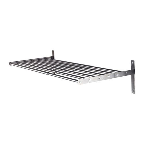 GRUNDTAL  Drying rack, wall, stainless steel  $26.99  Article Number: 902.192.97