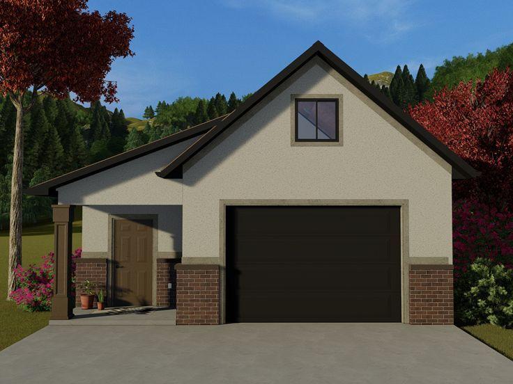 065g 0004 Garage Plan With Storage Loft 27 X23 Garage Plans With Loft Garage Plans Loft Plan