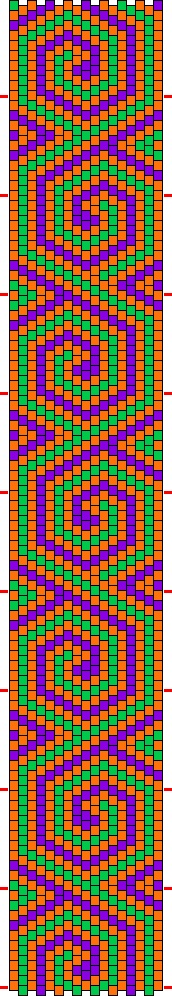 Triadic color article with 3 bead bracelet patterns.