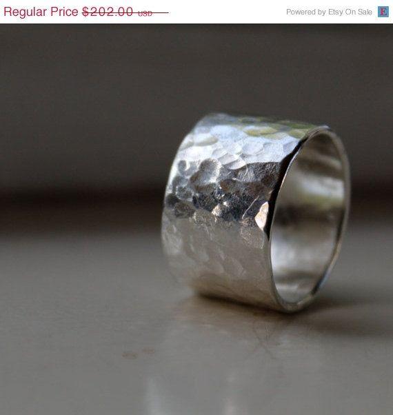Rustikal Breite und schwere Silber Ring  Schmuck  Ringe Ringe silber und Mnner schmuck