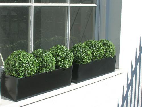 Fake window boxes
