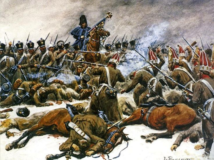 The battle of eylau 8 february 1807 r volution 1er for Napoleon horse painting